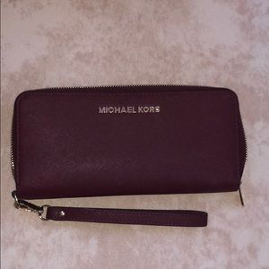 Michael Kors Saffiano Wallet with wrist strap